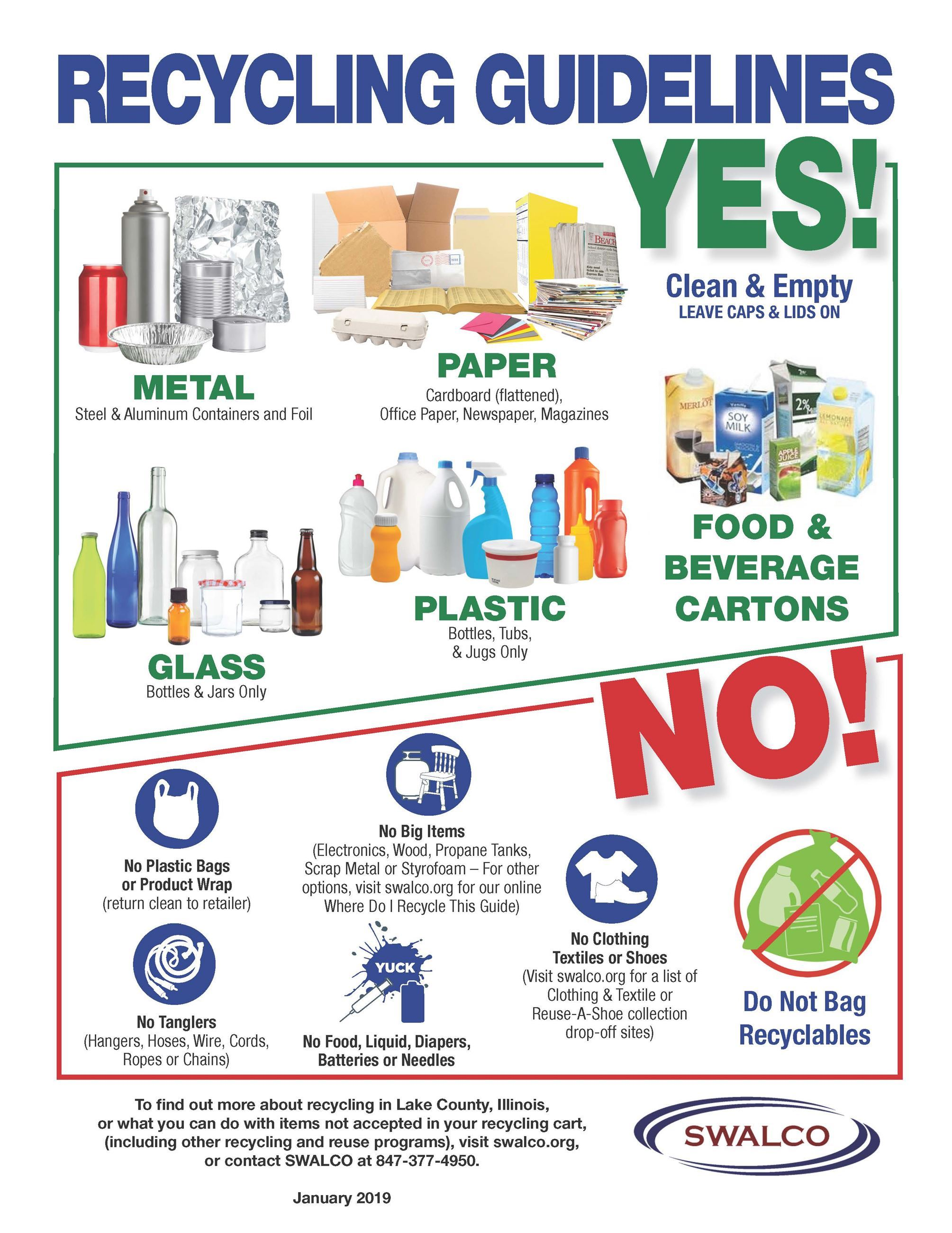 Recycling Guidelines - What Can and Cannot Be Recycled